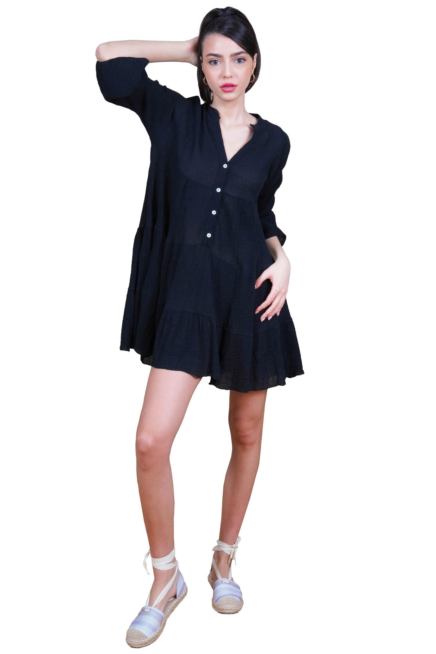 Rochie tricotata cu maneca lunga L888 bej